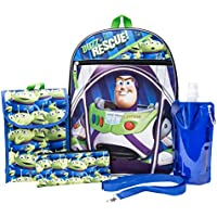 Toy Story Backpack Combo Set - Disney Pixar Toy Story Boys' 6 Piece Backpack Set - Woody & Buzz Lightyear Backpack & Lunch Kit