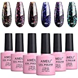 AIMEILI Soak Off UV LED Gel Nail Polish Galaxy Paranoid Collection Color Set Of 6pcs X 10ml (SET6-18)