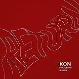アイコン - Return (Vol.2) [Red ver.] CD+2Photocards+Double Sided Poster [KPOP MARKET特典: 追加特典フォトカードセット] [韓国盤]/