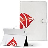 igcase d-01J dtab Compact Huawei ファーウェイ タブレット 手帳型 タブレットケース タブレットカバー カバー レザー ケース 手帳タイプ フリップ ダイアリー 二つ折り 直接貼り付けタイプ 004585 ラブリー 英語 文字 シンプル