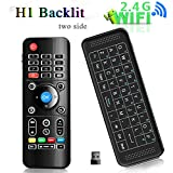 Air Mouse Tv Remote with Backlight Wireless Mini keyboard H1,Android TV Remote,Rechargeable wireless remote with Touchpad Combo with IR learning Fly Mouse For Android TV Box.smart tv,HTPC.IPTV.Pad.PS3/PS4,PC. (H1 backlight)