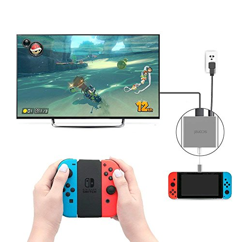 「実機確認済み」scorel ニンテンドースイッチ HDMI変換アダプター ...