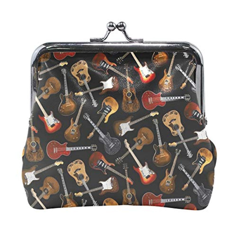 がま口 小銭入れ 財布 ギター コインケース レザー製 丸形 軽量 人気 おしゃれ プレゼント ギフト 雑貨