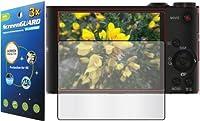 3x Sony サイバーショット DSC-W350 DSC-W300 デジタルカメラ プレミアム クリア LCD スクリーン プロテクター ガード シールドキット 切断なし (GUARMOR ブランド)