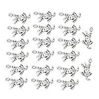 sharprepublic 20個 ペンダント ビーズ チャーム 亜鉛合金 DIYジュエリー ネックレス用 全10種類 - シルバー #4