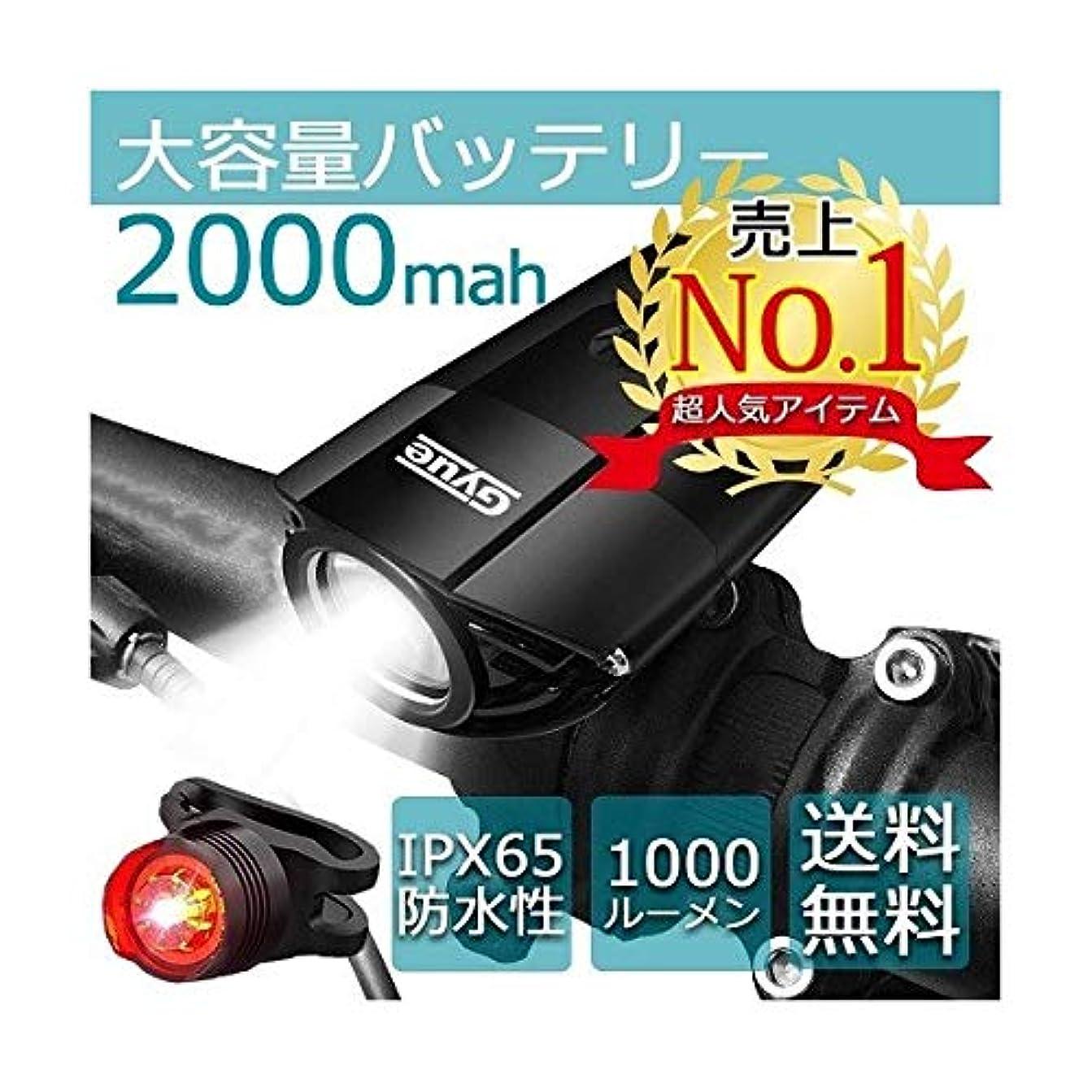 安価なクレタ野菜自転車 ライト 自転車ライト 防水 ホルダー usb LED 電池 1000ルーメン 取付簡単 大容量 2000mah テールライト付属