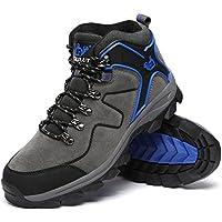 ハイキングシューズ メンズ 防水 防滑 トレッキングシューズ 大きいサイズ ハイカット アウトドア シューズ 通気性 スエード 耐磨耗 登山靴 レディース