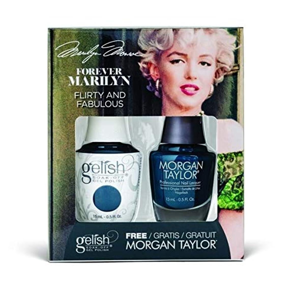 平らなアーティスト軽食Harmony Gelish - Two of a Kind - Forever Marilyn Fall 2019 Collection - Flirty and Fabulous - 15ml / 0.5oz
