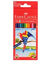 Faber Castell Tri-Grip Colour Pencils 12 Colours Set