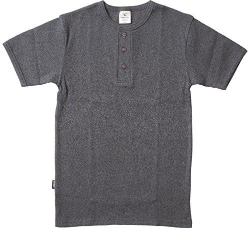 AVIREX デイリー ヘンリーネックTシャツ #6143504(旧品番#618364)Lチャコール
