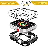 ナイキ 腕時計 DesertWest Apple Watch ケース 42mm 2枚セット アップルウォッチケース フィルム カバーTPU全面保護ケース 耐衝撃 装着簡単 For Apple Watch Series 3/2 / 1 Nike+
