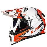 オフロード バイクヘルメット ヘルメット バイク用 バージョン ダブルシールド PSC付き  YHZ-98[商品05/L]