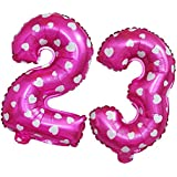 Perfeclan 2枚 箔の風船 ナンバー 数字 番号 3&2 ハート フォイルバルーン 誕生日 記念パーティー デコレーション