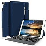 Apple ipad 9.7 2018 ケース YOCCO iPad 9.7 第6世代 2018カバー apple pencil 収納ホルダー付き キーボードケース一体型 高級PUレザー スタンド付き オートスリープ ipad 9.7インチ 専用 Bluetoothキーボードフォリオケース New iPad 9.7 2018 ケース シンプル 軽量薄型 iPad 9.7 2018 保護ケース ブルー