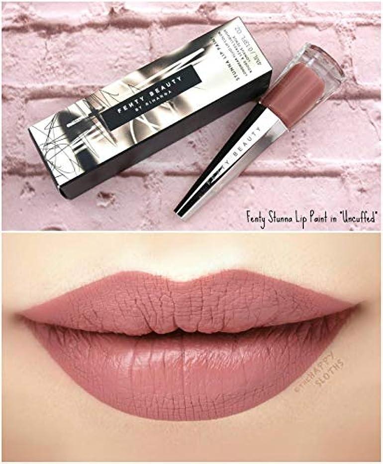 行ポケット混乱させるFENTY BEAUTY BY RIHANNA Stunna Lip Paint Longwear Fluid Lip Color リップ リアーナ フェンティビューティ (Uncuffed - rosy mauve)