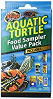 Zoo Med Aquatic Turtle Food Healthy Sampler Species Calcium Value Pack Reptile