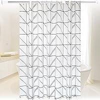 シャワーカーテン バスカーテン 防水 防カビ おしゃれ 間仕切り カーテン リング付属 120×180cm