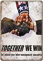 Together We Win ティンサイン ポスター ン サイン プレート ブリキ看板 ホーム バーために