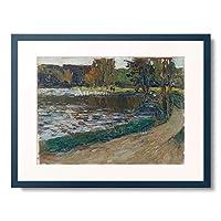 ワシリー・カンディンスキー Wassily Kandinsky Vassily Kandinsky 「Englischer Garten in Munchen. 1901.」 額装アート作品