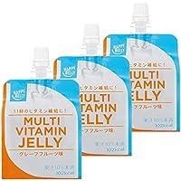 [Amazonブランド]Happy Belly マルチビタミンゼリー グレープフルーツ味 180g×3個