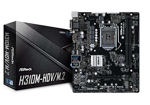 ASRock Intel H310チップ搭載 Micro ATXマザーボード H310M-HDV/M.2