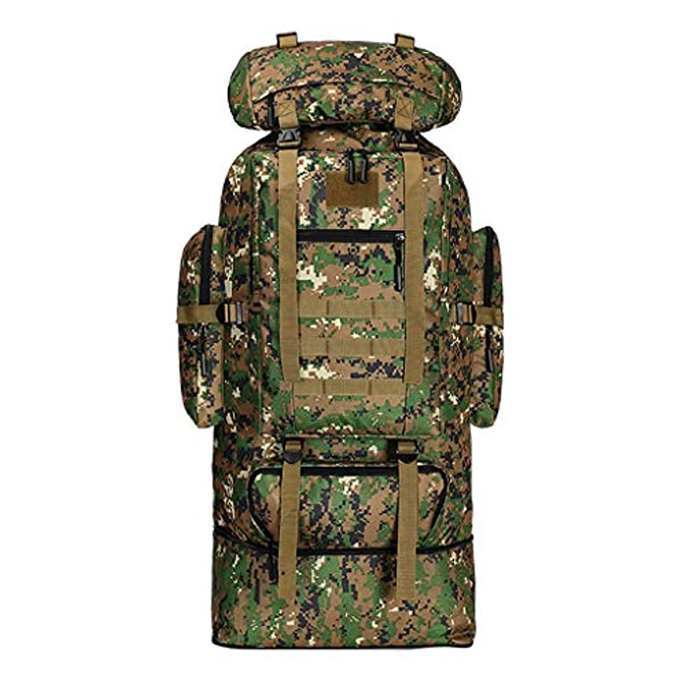 受粉者武器天使大容量100Lバックパック迷彩印刷屋外バッグ旅行登山バッグ収納防水おしゃれバックパック人気バックパック大容量 人気バックパック