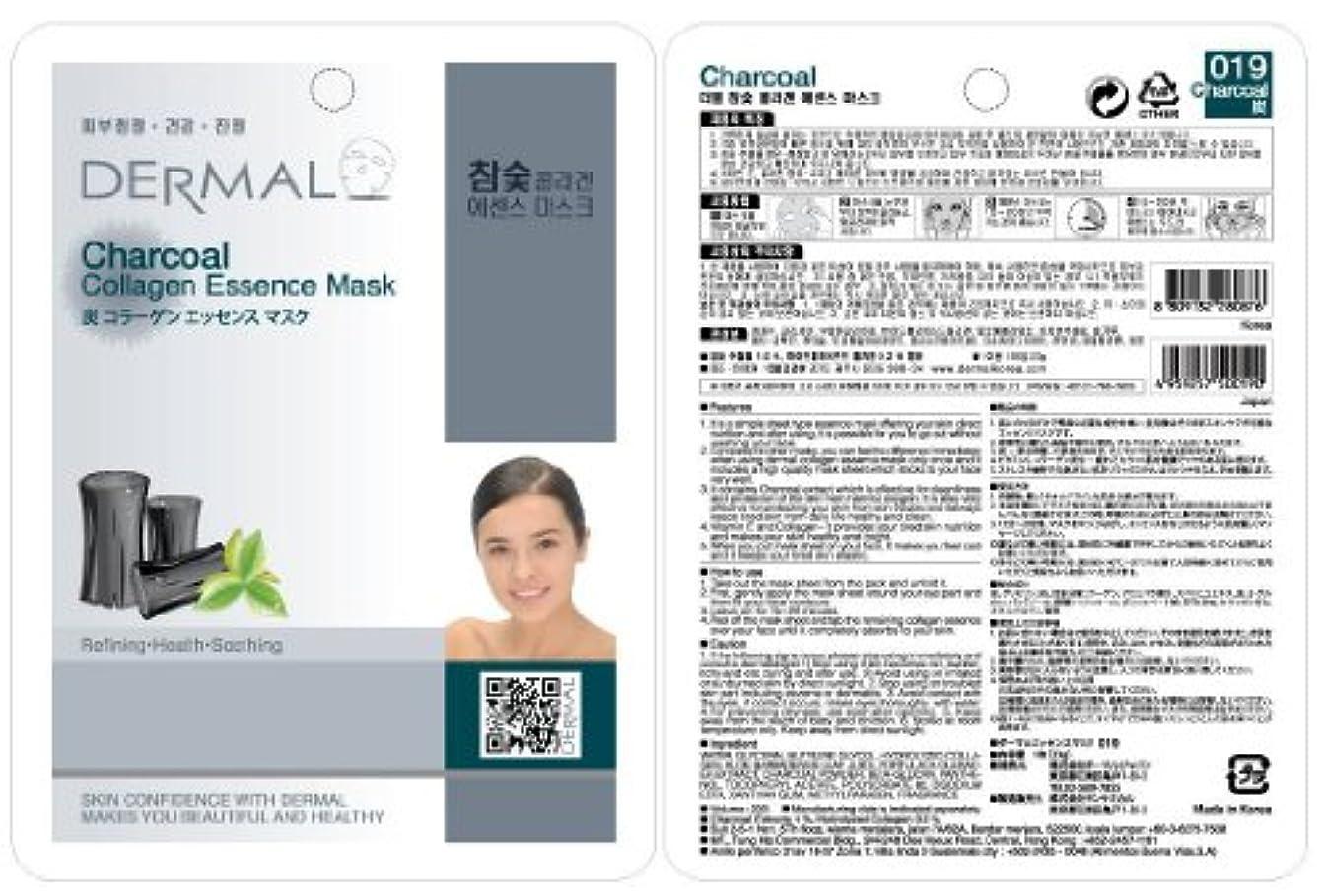 死ハシープラカードダーマル(DERMAL)炭エッセンスマスク 10枚セット