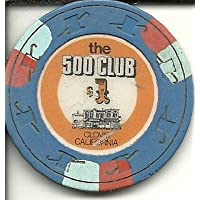 $ 5 The 500 Club Casino Clovis CaliforniaカジノチップObsolete