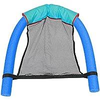 Sunworld 浮き輪  浮動椅子 フロート シットインフロート 座れる 子供用 大人用 おしゃれ (L, 青)