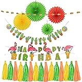 HooMall 誕生日飾り付けセット 夏 ハワイアンパーティー飾り ハワイアン サマーパーティー 結婚式 誕生日飾り付けセット 店のディスプレイ ホームデコレーション 写真背景
