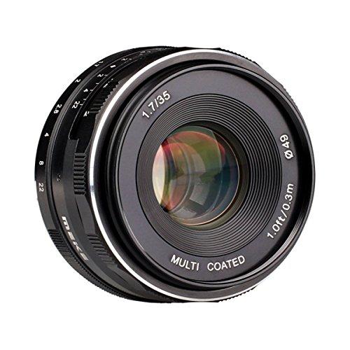 Meike MK-35mm -F1.7マルチコート大口径固定マニュアルフォーカス(MF)APS-Cカメラレンズ for Sony NEX3 NEX5 NEX6 NEX7 A5000 A5100 A6000 A6100 A6300 A6500 カメラ