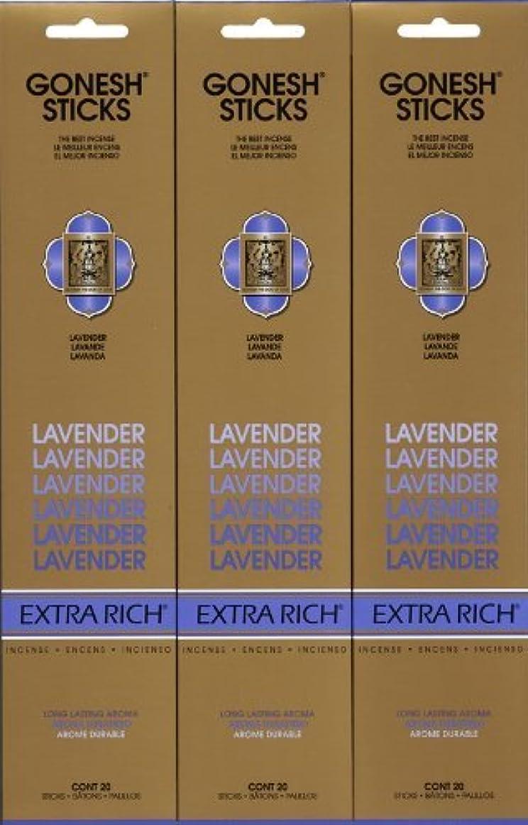恐怖マーケティング移住するGONESH LAVENDER ラベンダー スティック 20本入り X 3パック (60本)