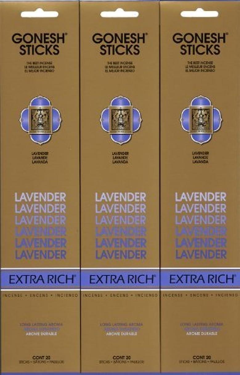 歯科医独立したオークションGONESH LAVENDER ラベンダー スティック 20本入り X 3パック (60本)