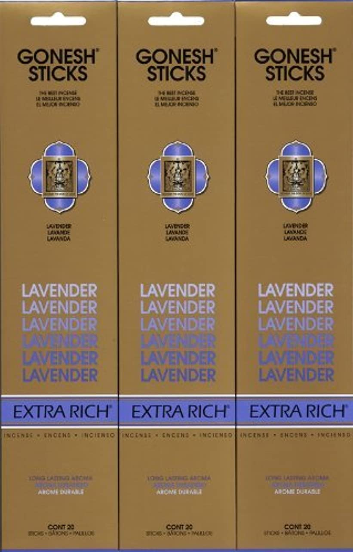 吹きさらし申込みアメリカGONESH LAVENDER ラベンダー スティック 20本入り X 3パック (60本)