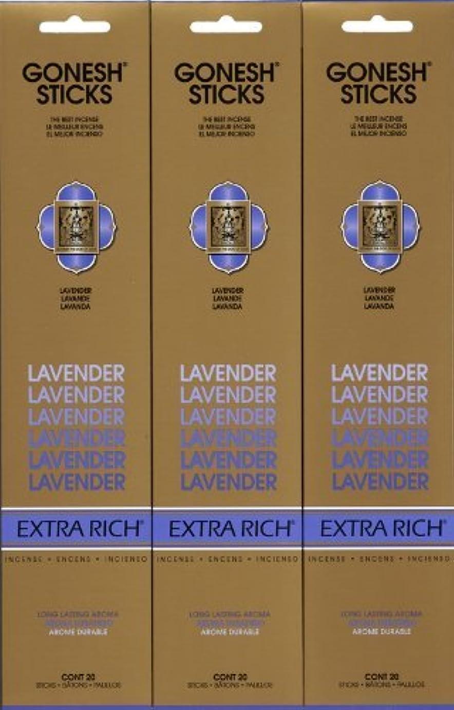 チャンピオン滞在気候の山GONESH LAVENDER ラベンダー スティック 20本入り X 3パック (60本)