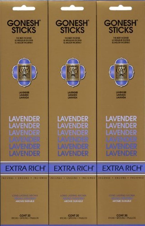 側溝非難するライムGONESH LAVENDER ラベンダー スティック 20本入り X 3パック (60本)