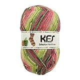 Opal毛糸 セレクション(KFS157) とれたてパプリカ/グリーン×ピンク系カラー
