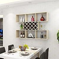 シュウクラブ@ 白いメープルカラークリエイティブウォールワインキャビネットワインラック壁棚キッチンレストランワインクーラーパーティションリビングルームディスプレイスタンド (サイズ さいず : 140cm)