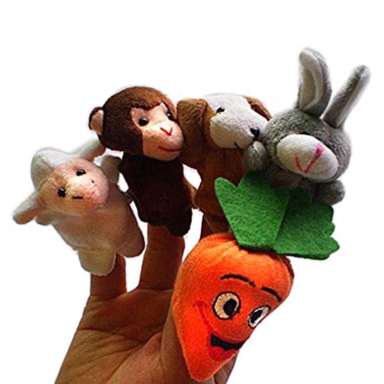 SODIAL(R)赤ちゃん 子供の教育玩具 指パペットぬいぐるみ 女の子と男の子に適します