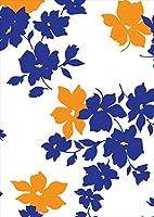 ポスター ウォールステッカー シール式ステッカー 飾り 364×515㎜ B3 写真 フォト 壁 インテリア おしゃれ 剥がせる wall sticker poster pb3wsxxxxx-008210-ds フラワー 花 フラワー 青 ブルー オレンジ 模様