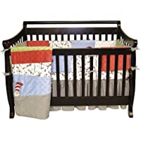 Trend Lab Dr Seuss 4 Piece Crib Bedding Set, Cat In The Hat by Trend Lab (English Manual)