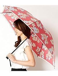 ミラ?ショーン(雑貨)(mila schon) 雨傘(折りたたみ/3段/ミニ傘)【大寸/大きいサイズ/軽量】花柄(婦人/レディース)【32ローズピンク/**】