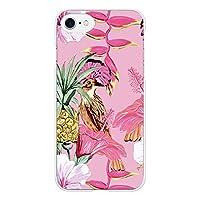 Ruuu Galaxy S8+ Plus プラス SC-03J SCV35 ハード スマホ ケース カバー ピンク ハイビスカス ハワイアン hawaii ハワイ 南国 鳥 とり カラフル トロピカル パイン パイナップル 柄 模様 ヴィンテージ 夏 人気 サマー おしゃれ