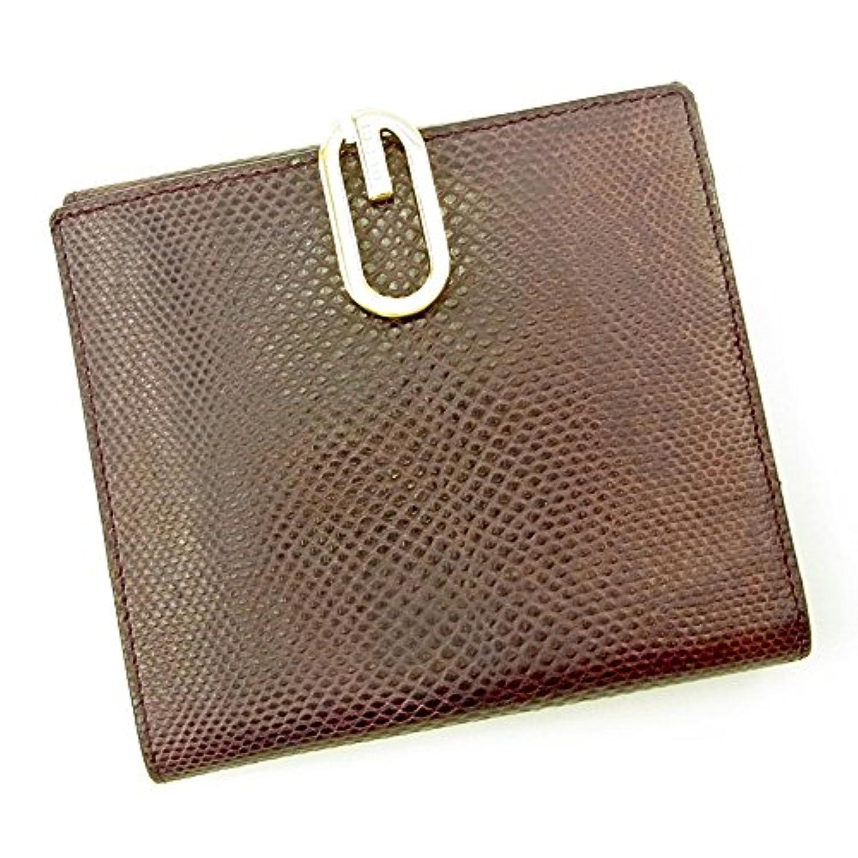 グッチ GUCCI Wホック財布 二つ折り 財布 ユニセックス リザード型押し 中古 T3800