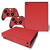 XBOXONE Xゲーム機用ステッカーXBOXONE Xカーボンファイバーシリーズステッカー(2個) (Onex-CB-Red)