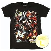 マーベル VS カプコン グループTee/Marvel vs Capcom Group T-Shirt Sheer ゲーム・アニメ・コミックTシャツ L【並行輸入】
