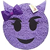 Purple Sneaky Emoticon Pinata 41cm