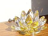 蓮の花 クリスタル ガラス 置物 イ�
