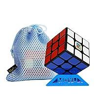 MoYu Cubing Classroom Mofang jiaoshi MF3RS3M MF3RS 3M RS3M 3x3 3 Layers Magic Cube MFJS 3x3x3 cube 3層マジックキューブMFJS 3×3×3キューブとスタンドとバッグ (Black ブラック)