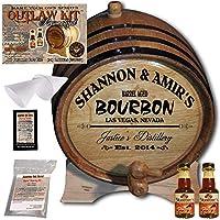 Personalized Outlawキット( Kentucky Bourbon )からAmericanオークバレル–デザイン062: Barrel Aged Bourbon–2014Barrel Agedシリーズ 2 Liter